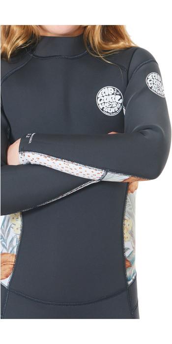 2020 Rip Curl Junior Girls Dawn Patrol 4/3mm Back Zip Wetsuit WSMYBS - Charcoal