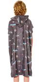2021 Rip Curl Junior Hooded Towel Poncho KTWAH9 - Charcoal Grey