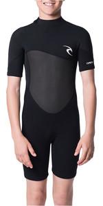 Rip Curl Junior Omega 1.5mm Shorty Wetsuit Black WSP7FB