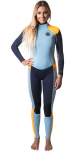Rip Curl Womens Dawn Patrol 5/3mm GBS Back Zip Wetsuit SLATE / ORANGE WSM6EW