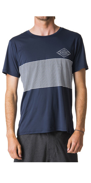 2018 Rip Curl Linear Surflite UV UPF50+ Short Sleeve Tee Navy WLY7CM