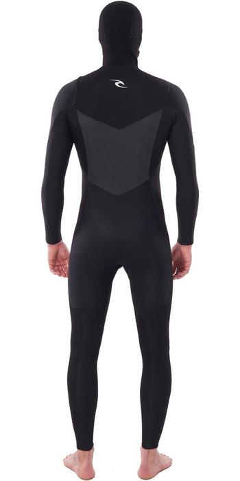 2020 Rip Curl Mens Dawn Patrol 5/4mm Hooded Chest Zip Wetsuit Black WSM9BM