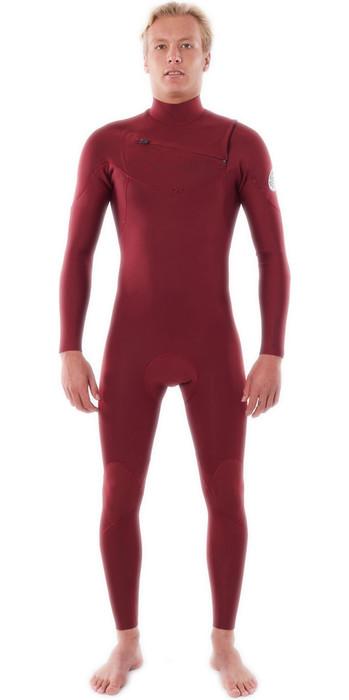 2021 Rip Curl Mens Dawn Patrol Performance 5/3mm Chest Zip Wetsuit WSM9XM - Maroon