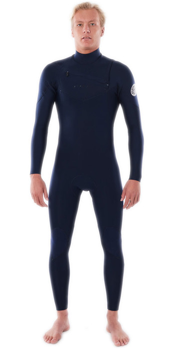 2021 Rip Curl Mens Dawn Patrol Performance 5/3mm Chest Zip Wetsuit WSM9XM - Navy