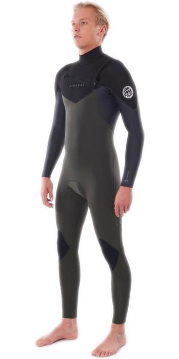 2021 Rip Curl Mens Dawn Patrol Warmth 3/2mm Chest Zip Wetsuit WSM9AM - Dark Green