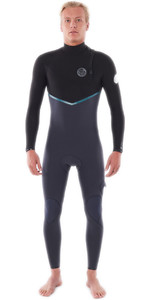 2021 Rip Curl Mens E-Bomb 3/2mm Zip Free Wetsuit WSMYRE - Charcoal Grey