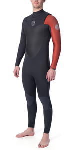 2019 Rip Curl Mens Flashbomb 4/3mm GBS Chest Zip Wetsuit Burnt Orange WST7NF