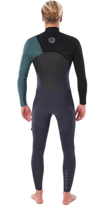 2020 Rip Curl Mens Flashbomb 4/3mm Chest Zip Wetsuit WSTYNF - Green