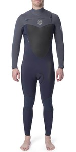 2019 Rip Curl Mens Flashbomb 5/3mm Chest Zip Wetsuit Grey WST7DF