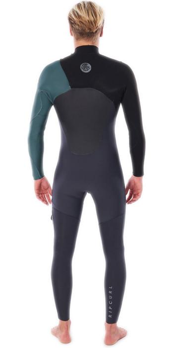 2021 Rip Curl Mens Flashbomb 5/3mm Chest Zip Wetsuit WSTYDF - Green