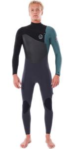 2020 Rip Curl Mens Flashbomb 5/3mm Chest Zip Wetsuit WSTYDF - Green