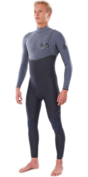 2020 Rip Curl Mens Flashbomb 3/2mm Zip Free Wetsuit WSMYRF - Grey