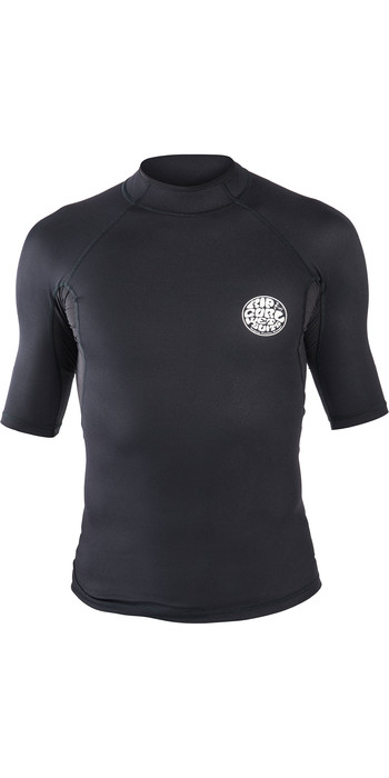 2020 Rip Curl Mens Hotskin 0.5mm Short Sleeve Neoprene Jacket Black WVE8HM