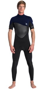 2019 Rip Curl Mens Omega 3/2mm Short Sleeve Wetsuit WSM8NM - Navy