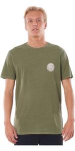2020 Rip Curl Mens Wettie Logo T-Shirt CTEMN9 - Dark Olive