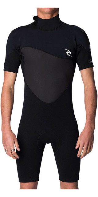 2018 Rip Curl Omega 1.5mm Back Zip Shorty Wetsuit Black Wsp7cm Picture
