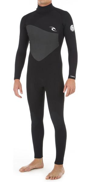 2018 Rip Curl Omega 3/2mm Back Zip Wetsuit BLACK WSM8LM