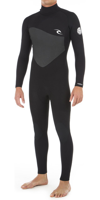 2018 Rip Curl Omega 3/2mm Back Zip Wetsuit Black Wsm8lm Picture