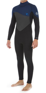2020 Rip Curl Mens Omega 3/2mm Flatlock Back Zip Wetsuit WSM8KM - Navy