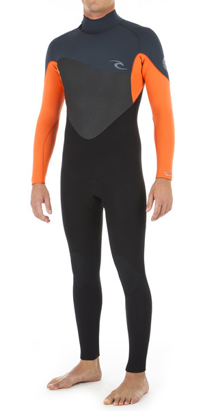 2019 Rip Curl Mens Omega 3/2mm Back Zip Wetsuit ORANGE WSM8LM