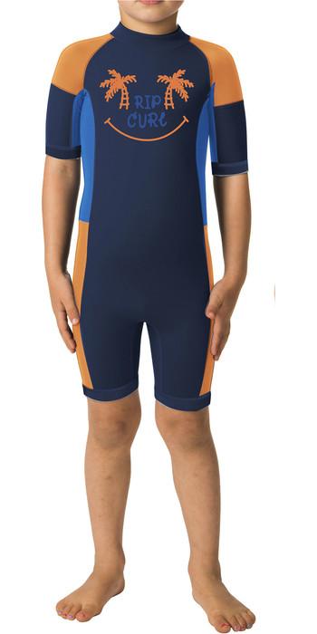 Rip Curl Toddler Boys Dawn Patrol 1.5mm Back Zip Shorty Wetsuit WSP7AK - Orange
