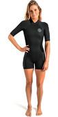 Rip Curl Womens Dawn Patrol 2mm Back Zip Shorty Wetsuit Black WSP7FW