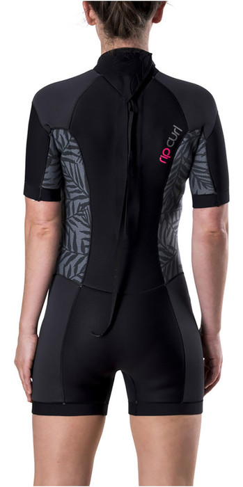 Rip Curl Womens Dawn Patrol 2mm Back Zip Short Wetsuit Neon Pink WSP7FW