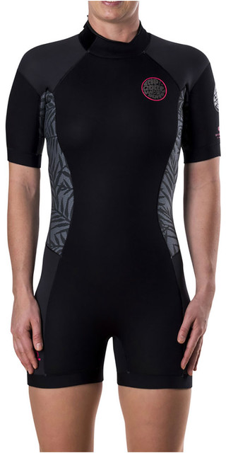 2018 Rip Curl Womens Dawn Patrol 2mm Back Zip Short Wetsuit Neon Pink Wsp7fw Picture