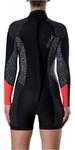 Rip Curl Womens Dawn Patrol 2mm Long Sleeve Back Zip Shorty Wetsuit Neon Pink WSP7GW