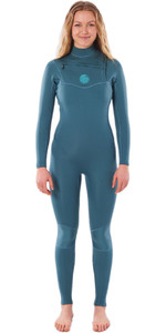 2020 Rip Curl Womens Dawn Patrol Performance 4/3mm Chest Zip Wetsuit WSMYBW - Green