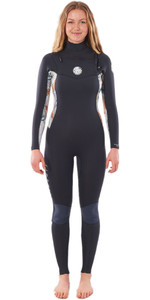 2021 Rip Curl Womens Dawn Patrol 5/3mm Chest Zip Wetsuit WSM9AS - Charcoal Grey