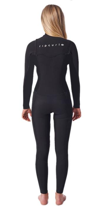 2021 Rip Curl Womens Dawn Patrol 5/3mm Chest Zip Wetsuit WSM9MW - Black