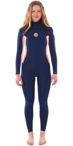 2020 Rip Curl Womens Dawn Patrol 3/2mm Chest Zip Wetsuit WSM9OW - Navy