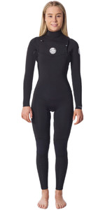 2020 Rip Curl Womens Dawn Patrol Performance 4/3mm Chest Zip Wetsuit WSMYBW - Black