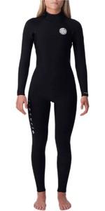 2020 Rip Curl Womens Dawn Patrol 3/2mm Wetsuit Back Zip WSM9GW - Black