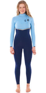 2020 Rip Curl Womens E-Bomb 5/3mm Zip Free Wetsuit WSM9LG - Blue