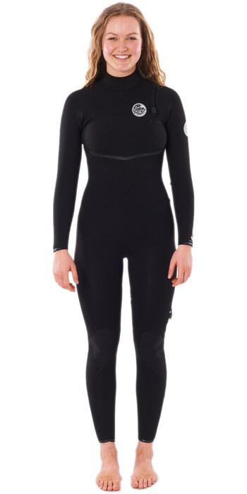 2021 Rip Curl Womens E-Bomb 3/2mm Zip Free Wetsuit WSMYKG - Black