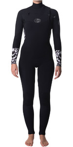 Rip Curl Womens Flashbomb 5/3mm Chest Zip Wetsuit BLACK / WHITE WSM7GS