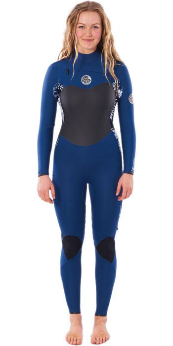 2020 Rip Curl Womens Flashbomb 4/3mm Chest Zip Wetsuit WSTYFS - Navy