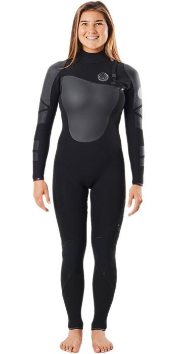 2021 Rip Curl Womens Flashbomb Heatseeker 4/3mm Zip Free Wetsuit WSTYYW - Black