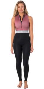 2020 Rip Curl Womens G-Bomb 1.5mm Front Zip Long Jane Wetsuit WSM9SS - Sun Rust
