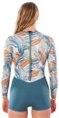 2020 Rip Curl Womens G-Bomb 1mm Boyleg Long Sleeve Shorty Wetsuit WSPYCW - Green