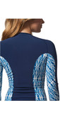 Rip Curl Womens G-Bomb 1mm Long Sleeve Front Zip Neo Jacket Blue Sub WVE6KW