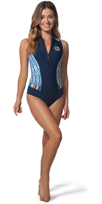 Rip Curl Womens G-Bomb 1mm Sleeveless Shorty Wetsuit Blue Sub WSP7MW