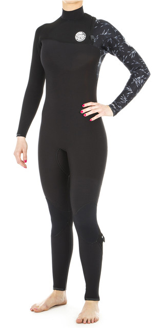 2018 Rip Curl Womens G Bomb 4/3mm Zip Free Wetsuit Black Wsm8ig Picture