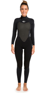 2020 Rip Curl Womens Omega 4/3mm Back Zip Wetsuit in Black WSM4CW
