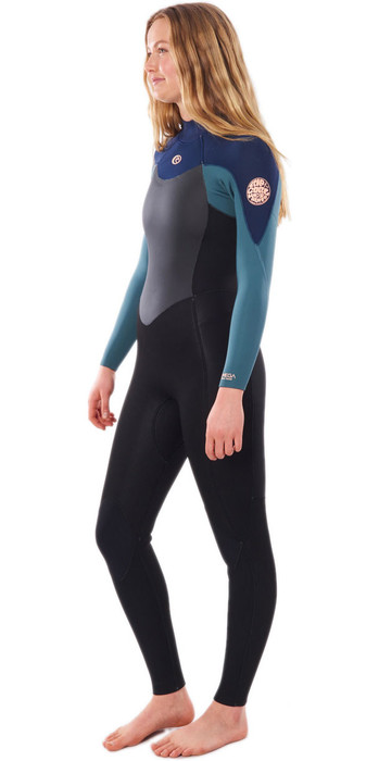 2021 Rip Curl Womens Omega 4/3mm Back Zip Wetsuit WSM9CW - Green
