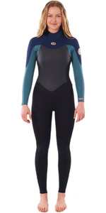 2021 Rip Curl Womens Omega 5/3mm Back Zip Wetsuit WSM9UW - Green