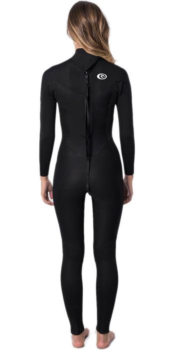 2021 Rip Curl Womens Omega 4/3mm Back Zip Wetsuit WSM9CW - Black