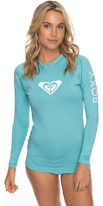 2018 Roxy Womens Wholehearted Long Sleeve Rash Vest AQUARELLE ERJWR03221